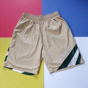 2004 Adidas Gold & Green Basketball Shorts